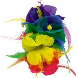 Rainbow Hibiscus Barrette Deluxe