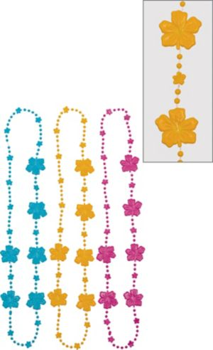 Hibiscus Bead Necklaces 3ct