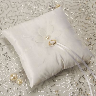 Floral Simplicity Ring Bearer Pillow