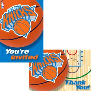 New York Knicks Invitations & Thank You Notes for 8