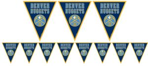 Denver Nuggets Pennant Banner