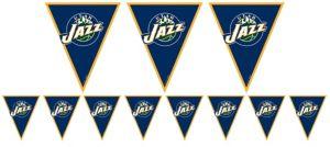 Utah Jazz Pennant Banner