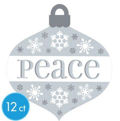 Peace Ornament Cutouts 12ct