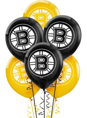 Boston Bruins Balloons 6ct