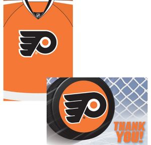 Philadelphia Flyers Invitations & Thank You Notes for 8