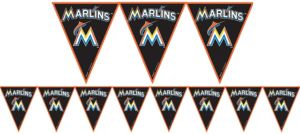 Miami Marlins Pennant Banner