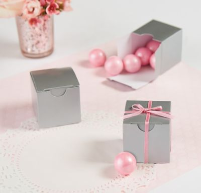 Silver Wedding Favor Boxes