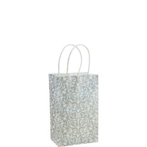 Silver Brocade Mini Gift Bag