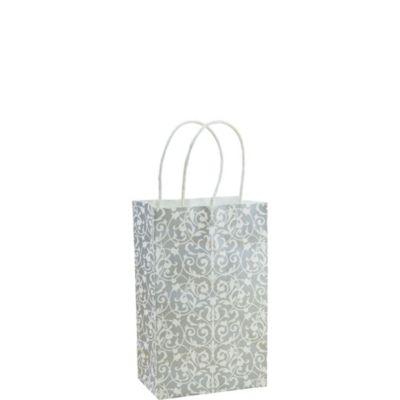 Silver Brocade Mini Gift Bag