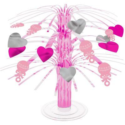 Mini Pink Baby Shower Cascade Centerpiece 8in
