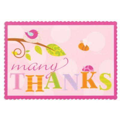 Tweet Baby Girl Thank You Notes 8ct