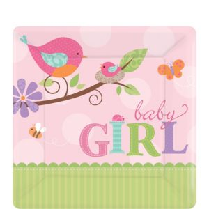 Tweet Baby Girl Dessert Plates 8ct