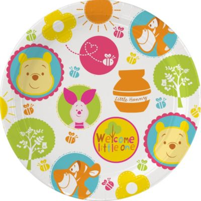 Winnie the Pooh Baby Shower Lunch Plates 8ct