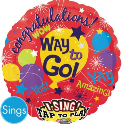 Congratulations Balloon - Singing Fame