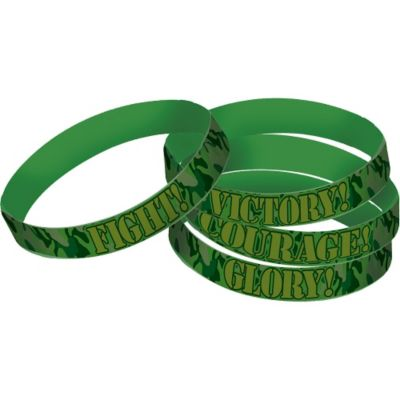 Camouflage Wristbands 4ct