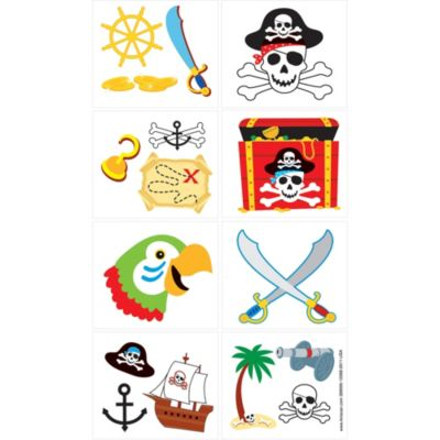 Pirate's Treasure Tattoos 1 Sheet