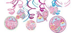 Princess Swirl Decorations 12ct