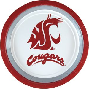 Washington State Cougars Lunch Plates 10ct