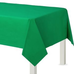 Festive Green Plastic Table Cover