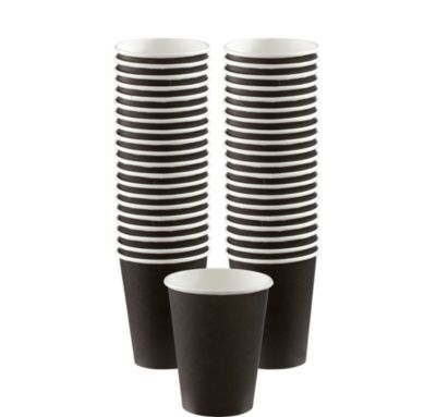 BOGO Black Paper Coffee Cups 12oz 40ct