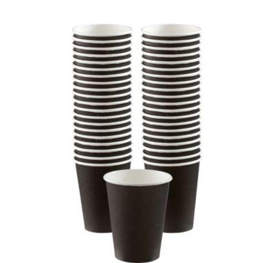 BOGO Black Paper Coffee Cups 12oz 40ct