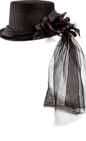 Purple Rose Top Hat