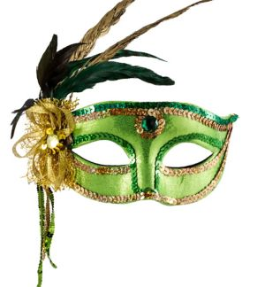 Woodland Fairy Feather Masquerade Mask
