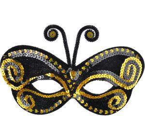 Sequin Bumblebee Masquerade Mask