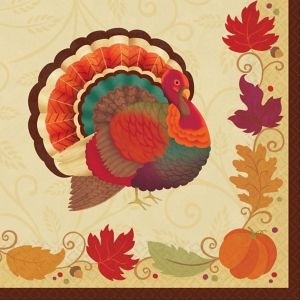 Thanksgiving Holiday Dinner Napkins 16ct