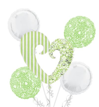 Honeydew Heart Balloon Bouquet 5pc