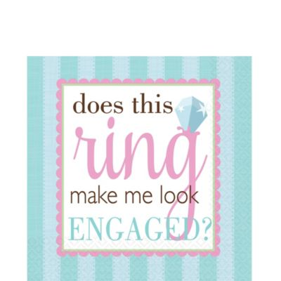Something Blue Engagement Lunch Napkins 16ct
