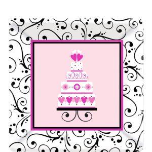 Sweet Wedding Dessert Plates 18ct