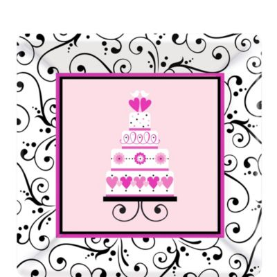 Sweet Wedding Dessert Plates 18ct