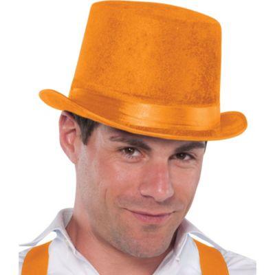 Velour Orange Top Hat