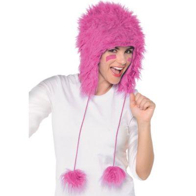 Pink Fuzzy Hat