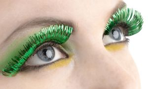 Self-Adhesive Green Tinsel False Eyelashes