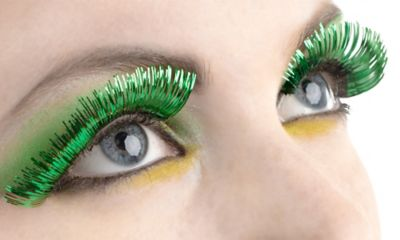 Green Tinsel Eyelashes