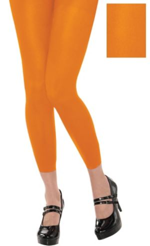 Footless Orange Tights