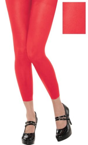 Footless Red Tights