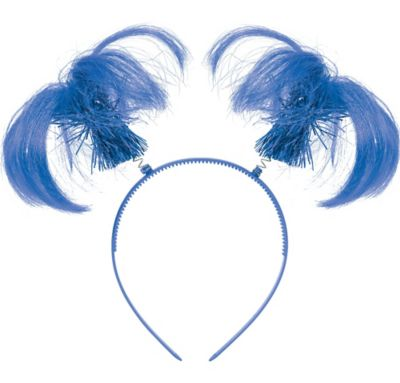 Blue Ponytail Headband