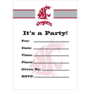 Washington State Cougars Invitations 8ct