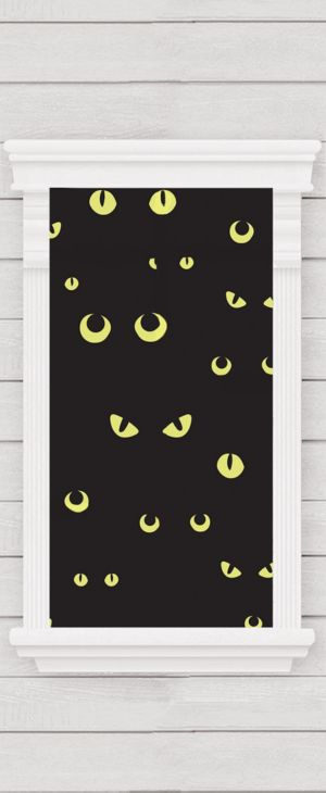 Eerie Cat Eye Cling Decal