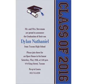 Custom Colorblock Class Stripe Graduation Invitations