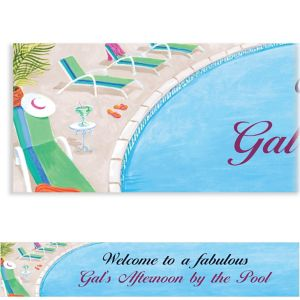 Custom Lounging by the Pool Summer Banner 6ft