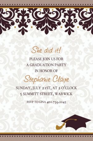 Custom Black & White Graduation Invitations