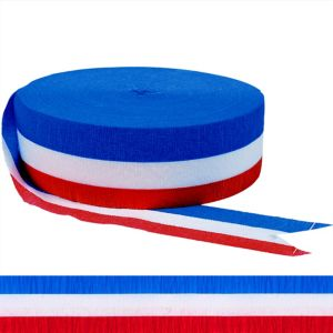 Patriotic Red, White & Blue Streamer