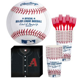 Arizona Diamondbacks Basic Party Kit for 16 Guests