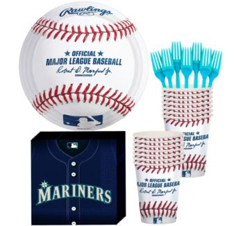 Seattle Mariners Basic Party Kit for 16 Guests