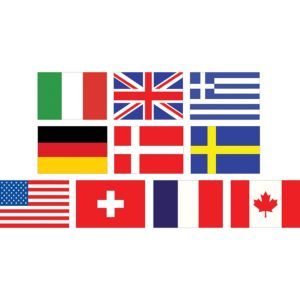 Mini International Flag Cutouts 10ct