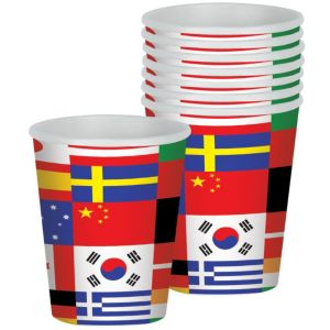 International Flag Cups 8ct
